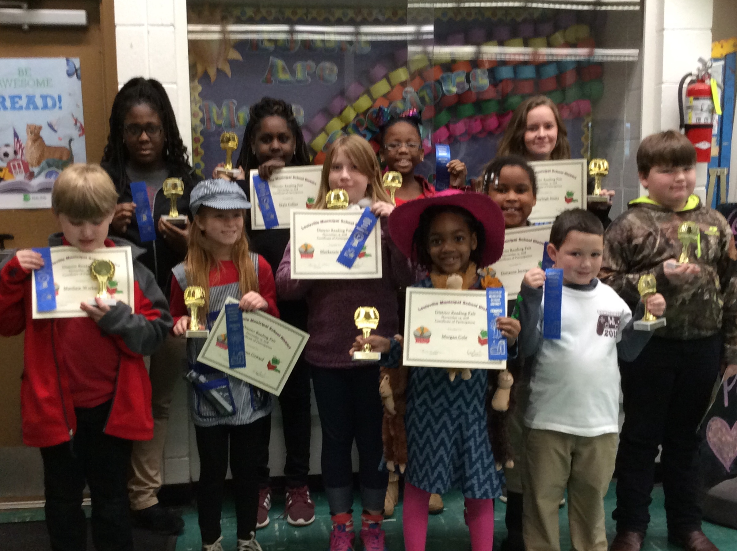 District Reading Fair Winners